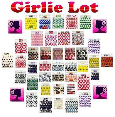100 2.5 3.0 Mil Girlie Lot Apple Ziplock Baggies Heart Silver Metallic