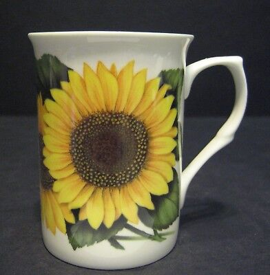 Sunflower Fine Bone China Mug Cup Beaker (castle shape mug) Bone China Fine China Mug