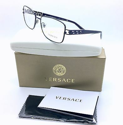 Versace Women's Eyeglasses 1229-B 1229B 1360 EggPlant FullRim Optical Frame 55mm