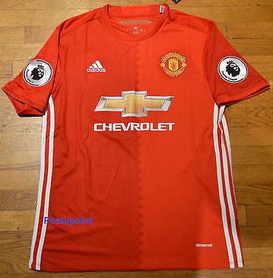 low priced fbc0e 14eef Manchester United Home Red Jersey Ibrahimovic Pogba Mata Rooney 2016/2017