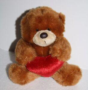 Valentine-TEDDY-BEAR-5-034-Aurora-People-Pals-Stuffed-Animal-Toy-Plush-Red-Heart