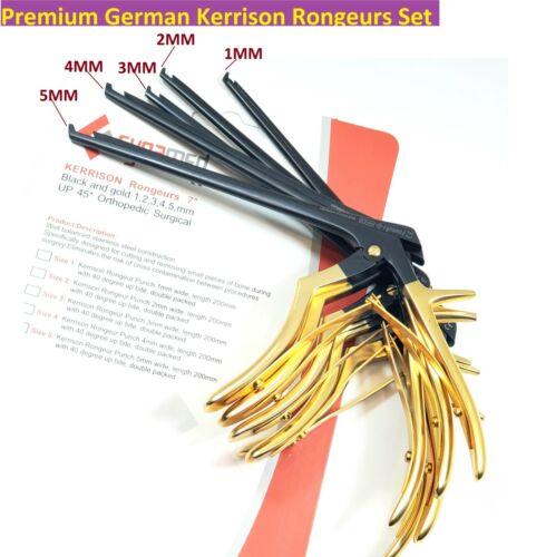 """5 Premium German KERRISON Rongeurs 7"""" 1,2,3,4,5mm up 45  Orthopedic Instruments"""