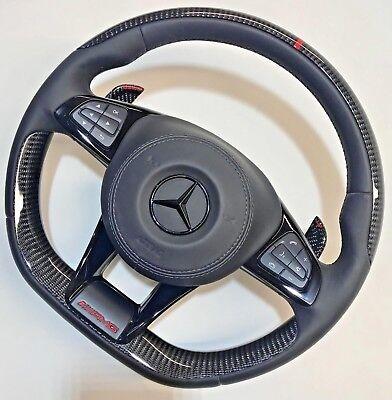 Mercedes-Benz W222 C217 AMG Performance Leder & Carbon Faser Lenkung Rad