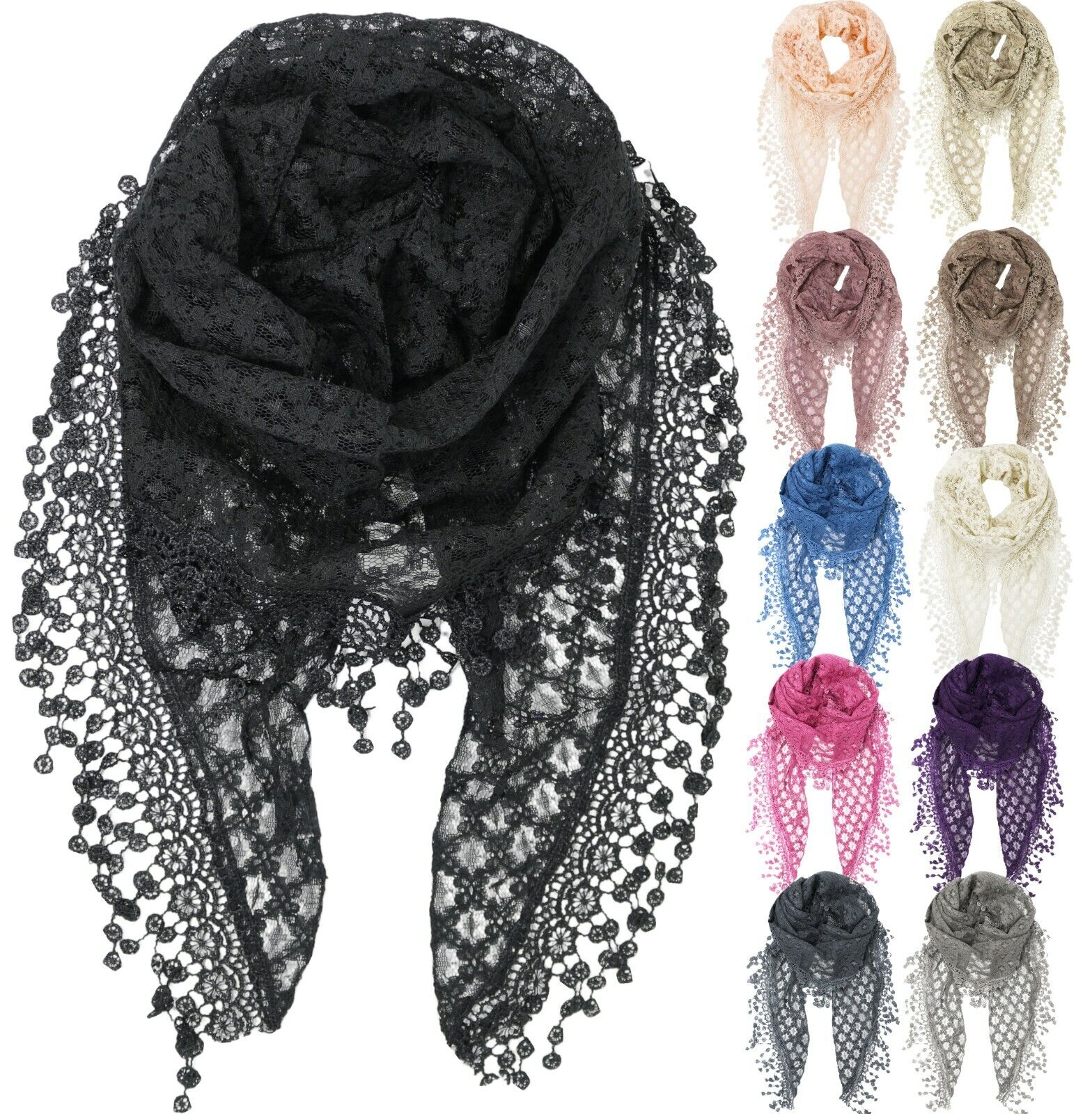 Lace Triangle Sheer Scarf / Hip Scarf Cover-up Clothing, Shoes & Accessories