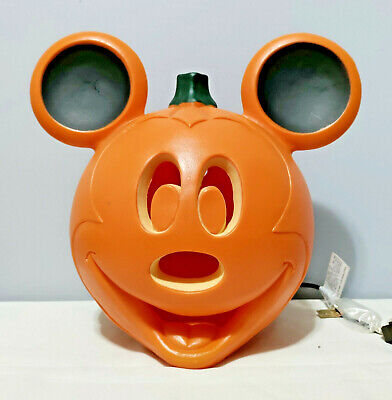 """Disney Halloween Light Up Mickey Mouse Pumpkin Blow Mold New With Tags 11.25"""""""