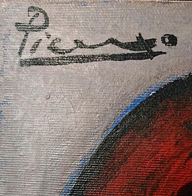 PABLO PICASSO(1881-1973),PORTRAIT SUPERBE,Painting Oil Canvas,hand signed,no RP