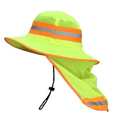 Rk Sun Shade Reflective Stripe Hard Hat Accessory Neck Shield Rk-hns-orlm-1