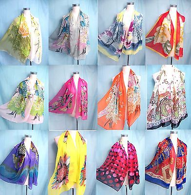 *US Seller*lot of 10 wholesale chiffon scarf wrap shawl women gifts bulk lot