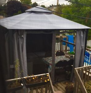 Gazebo 10x10 curtains and screen excellent condition