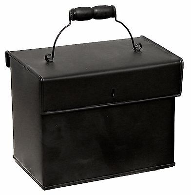 "Black Metal Recipe Box Container Home Kitchen 7"" x 6"" NEW KK5474B"