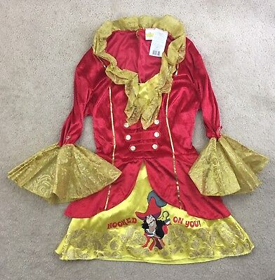 Red Captain Hook Jacket (Disney Classics Captain Hook Red Gold Jacket Costume Top Kid's Med 8-10)