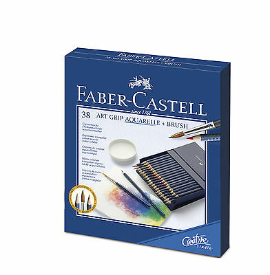 FABER-CASTELL Buntstifte Aquarellstift ART GRIP AQUARELLE, 38er Atelierbox