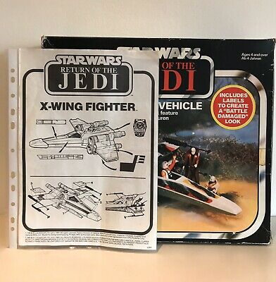 Vintage Star Wars Palitoy (1983) ROTJ X-Wing Fighter Box and Instructions Only