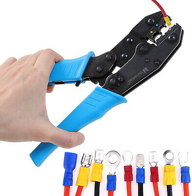Electrical Wire Connector Terminal Crimping Tool Wire Crimper 0.5 -6 Mm Awg New