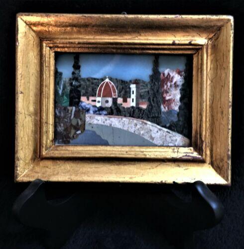 Mini Framed Pietra Dura Plaque - Stone Mosaic  - MINT! - G. Ugolini?