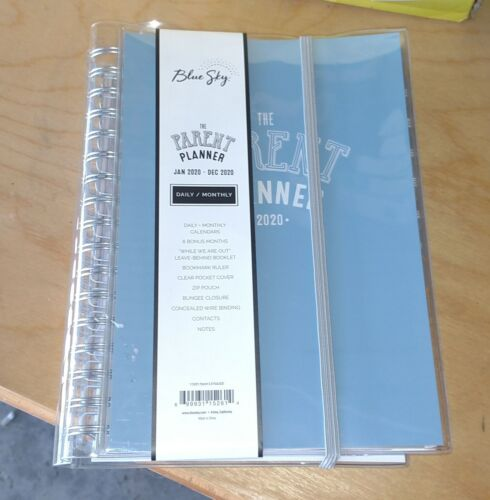 """2020 Blue Sky """" The Parent Planner """" Daily / Monthly Planner ~ BRAND NEW"""