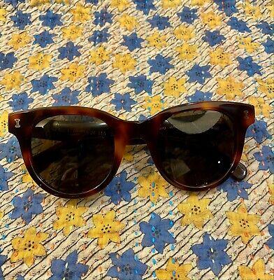 Illesteva Italian Handmade Womens French Acetate Sicilia Tortoise Sunglasses