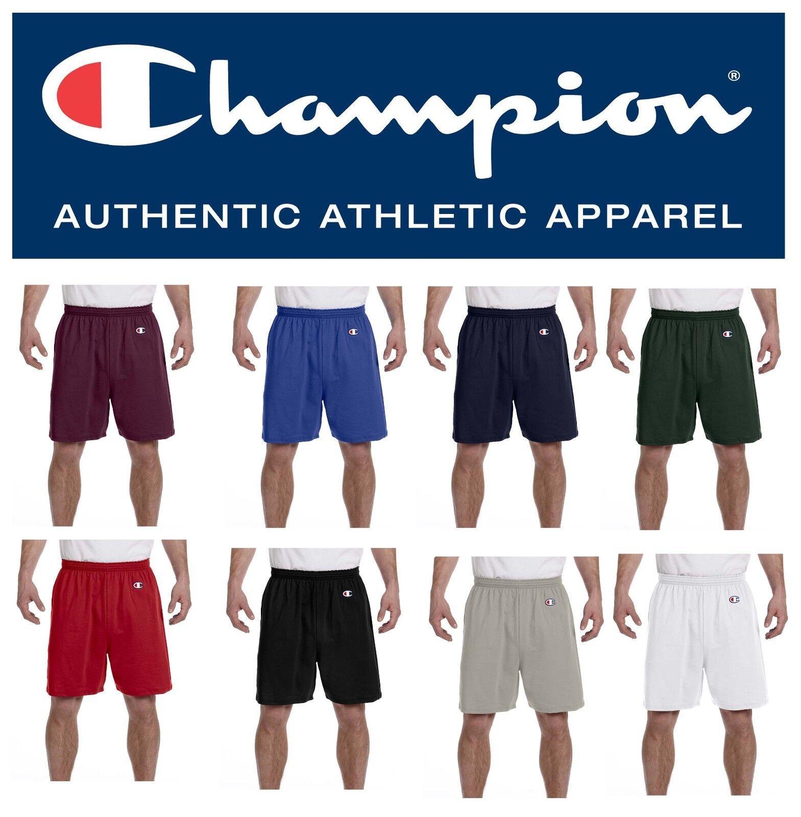 Champion Men/'s Shorts Cotton Athletic Gym Workout  6/'/' No Pocket 8187 S-XL 2X 3X