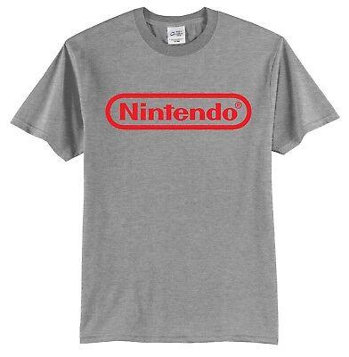 - Nintendo Logo T-Shirt Short Sleeve Video Games Gaming Classic Vintage Retro 80's