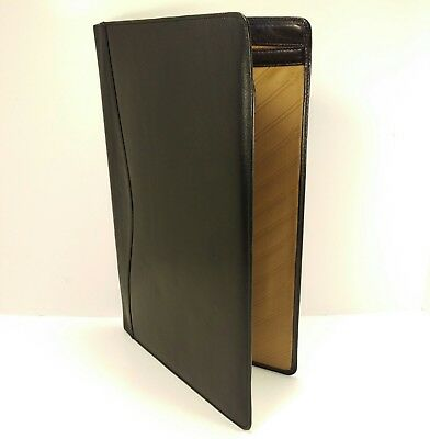 Scully Legal Size Black Leather Folio Pad Portfolio Executive Note Folder Doc