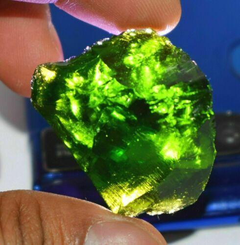 Exclusive Piece 119 Ct Certified Pakistani Green Peridot Uncut Rough Gemstone