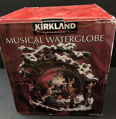 "NIB & Rare - Kirkland Signature ""Woodland Animals"" Lighted Musical Water Globe"