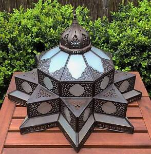 Moroccan Star Shape Frosted Glass Light Shade Pendant Golden Grove Tea Tree Gully Area Preview