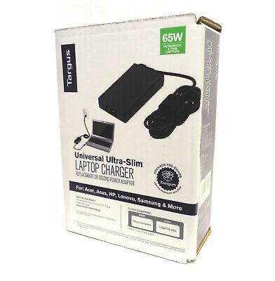 Targus Universal Ultra-Slim Laptop Charger 65W Acer Asus HP Lenovo Samsung More