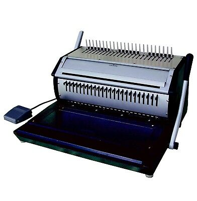 Demo Versabind-e Electric Punch And Manual Binding Machine Binds Plastic Wire