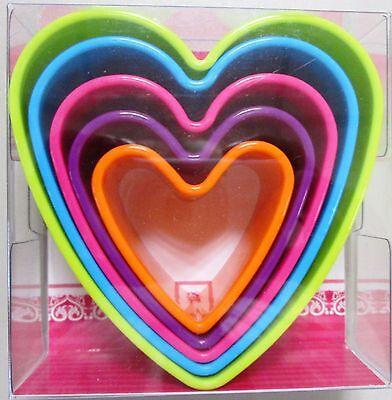 5 Stk im Set Ausstecher Herz (Herz Ausstecher Set)