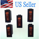 5X AC250V/15A 125V20A Red Light illuminated ON/OFF 2Position Rocker Switch 3 Pin