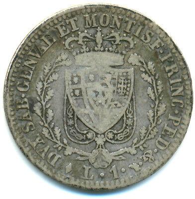 Italien-Sardinien, Carlo Felice, 1 Lira 1826 Turin