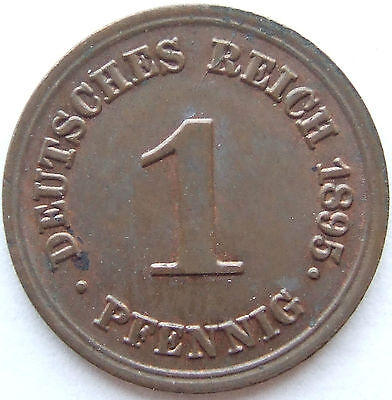 TOP! 1 Pf 1895 E in BANKFRISCH / STEMPELGLANZ SELTEN !!!