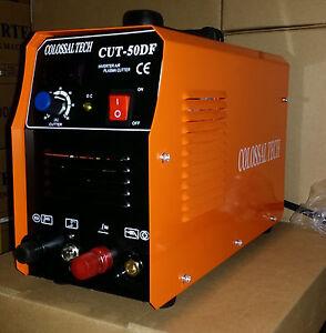 Pilot Arc Plasma Cutter CUT50DF 50AMP 110V/220V Dual Voltage & 18 Consumables