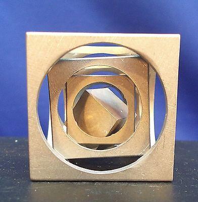 A Machinist's Trangam!  A Solid ALUMINUM Cube in a Cube in a Cube in a Cube