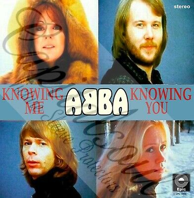 70S EURO POP EPIC ABBA KNOWING ME, KNOWING YOU PICTURE SLEEVE