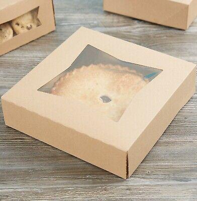 200 Bundle 10 X 10 X 2 12 Kraft Auto Popup Window Pie Bakery Box Paperboard