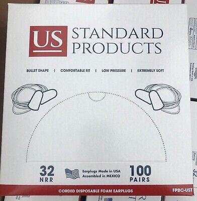 100 Pair Us Standard Products Disposal Foam Ear Plugs
