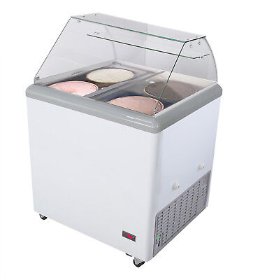 Jet 31-inch 4 Flavor 7.5cf Led Commercial Ice Cream Dipping Cabinet Freezer Jdc4