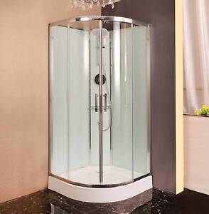 """Shower Cubicle With Glass Wall 900x900x2000mm Semi Circular """"New"""" Thomastown Whittlesea Area Preview"""