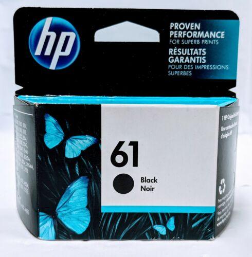 Genuine OEM HP 61 Original Single Black Ink Cartridge Expires 10/22 - Brand New!