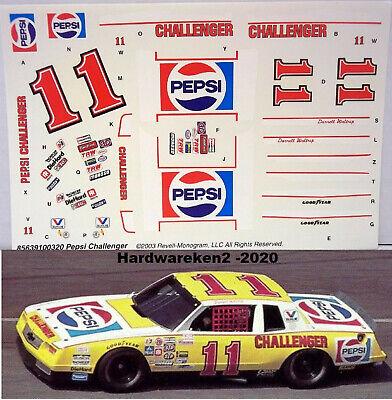 NASCAR DECAL #11 PEPSI CHALLENGER 1983 MONTE CARLO DARRELL WALTRIP 1/24