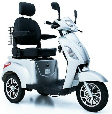 ELECTRIC MOBILITY SCOOTER 3 Wheeled SILVER 60V100AH 800W - FAST FREE UK DELIVERY