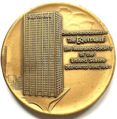 Vintage 1965 Equitable Life Insurance Chicago Headquarters Dedication Medallion