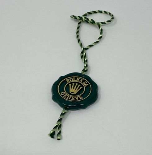 ROLEX SUPERLATIVE GREEN HANG TAG NEW