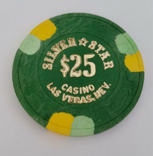 $25 Las Vegas Silver Star Casino Chip - Near Mint