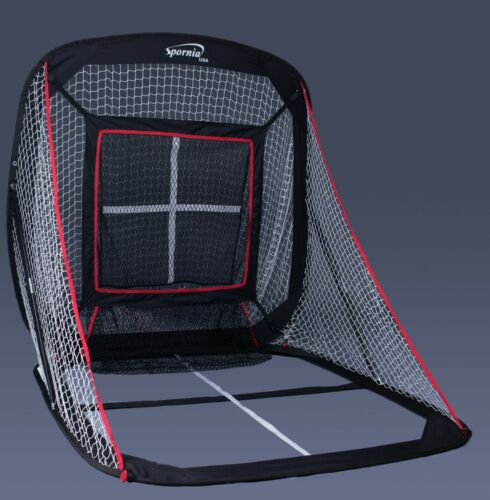 Spornia Baseball & Softball Hitting Net (5ft x 5ft) with Pitching Target