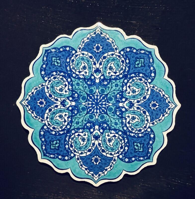 Handmade Turkish Ceramic Pottery Star-Shaped Tile Trivet