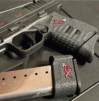 Talon Grips Springfield Xds 9Mm   45 Black Rubber Grip Wrap 207R Small Backstrap