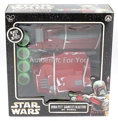 NEW Disney Parks Star Wars BOBA FETT Gauntlet Blaster Disc Launcher Toy - Boba Fett Blaster